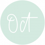 New Day Month Labels- Light Mint October