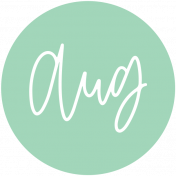 New Day Month Labels- Mint August