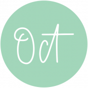New Day Month Labels- Mint October