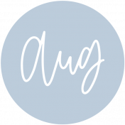 New Day Month Labels- Light Blue August