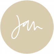New Day Month Labels- Tan January