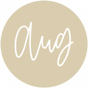 New Day Month Labels- Tan August