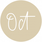 New Day Month Labels- Tan October