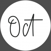 New Day Month Labels- White October