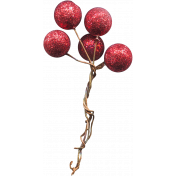Design Pieces No.10- Cherry Glitter Balls