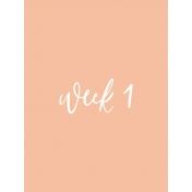 Week Card 10-001