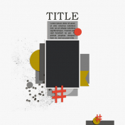 Centered Layout Template 3