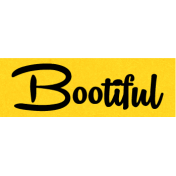 Bootiful- Bootiful Label