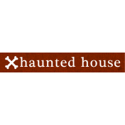 Bootiful- Haunted House Label