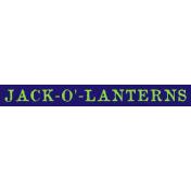 Bootiful- Jack-O-Lantern Label