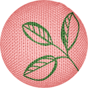 Our House Garden,Elements- Pink Fabric Button