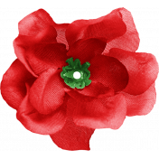 Our House Garden,Elements- Red Fabric Flower
