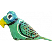 Our House- Garden, Element- Wooden Parrot