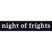 Bootiful- Night Of Frights- Label