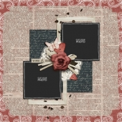 Rustic Charm Album Pages- Page 04 PSD