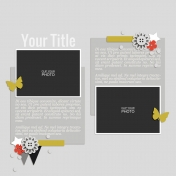 Rustic Charm- Layout Template 06