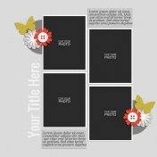Rustic Charm- Layout Template 09