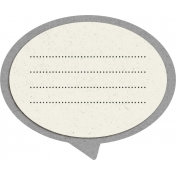 Reflections At Night - Speech Bubble Template