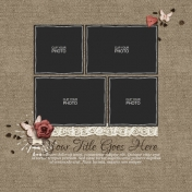 Rustic Charm Album Pages- Page 08 PSD