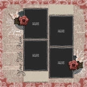 Rustic Charm Album Pages- Page 09 PSD