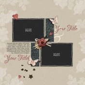 Rustic Charm Album Pages- Page 10 PSD