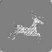 A Little Sparkle Block Deer