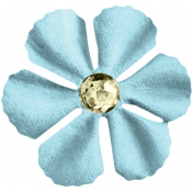 Reflections At Night Kit- Blue Paper Flower With Rhinestone