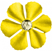 Reflections At Night Kit -Yellow Paper Flower With Gem