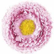 Be Bold Elements- Pink And Yellow Fabric Flower