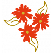 Be Bold Elements- Flower Sticker