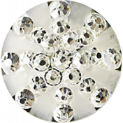 Be Bold Elements- Metallic Silver Gem Button