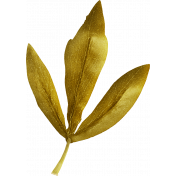 Be Bold Elements- Gold Fabric Flower Leaf