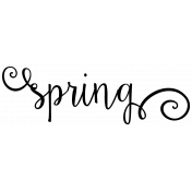 "Be Bold Elements- Black And White ""Spring"" Word Art Sticker"