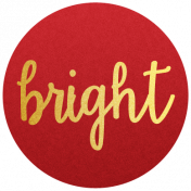 "Be Bold Elements- Red And Gold ""Bright"" Tag"