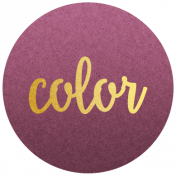 "Be Bold Elements- Purple And Gold ""Color"" Tag"