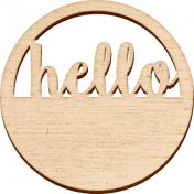 "Be Bold Elements- Wooden ""Hello"" Circle Tag"