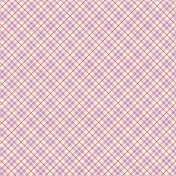 Be Bold Papers- Orange, Lilac, And White Diamond Stripes Patterned Paper- Paper 2