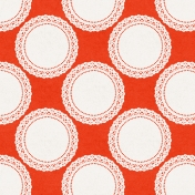Be Bold Papers- Orange And White Lace Doily Patterned Paper- Paper 8