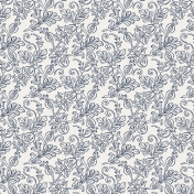 Be Bold Papers- Blue And White Floral Paper- Paper 9