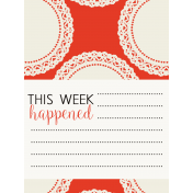Be Bold Journal Cards- Orange, White, And Black 3x4 Doily Card- Card 1