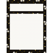 Be Bold Journal Cards- Black, Gold, And White Floral 3x4 Journal card- Card 3