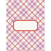 Be Bold Journal Cards- Lilac, White, And Orange Stripe Diagonal 3x4 Journal Card- Card 4