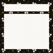 Be Bold Journal Cards- Black, Gold, And White Floral 4x4 Journal card- Card 3
