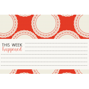 Be Bold Journal Cards- Orange, White, And Black 4x6 Doily Card- Card 1