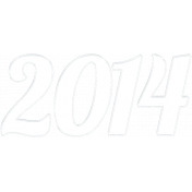 """A Little Sparkle {Elements}- Clear """"2014"""" Year Word Art"""
