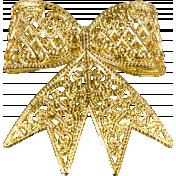 A Little Sparkle {Elements}- Gold Metal Bow