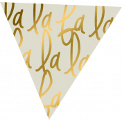 "A Little Sparkle {Elements}- Gold And White ""Falalalala"" Flag"