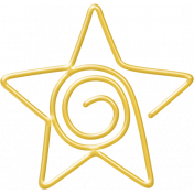 A Little Sparkle {Elements}- Gold Star Paperclip