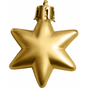 A Little Sparkle {Elements}- Gold Star Ornament