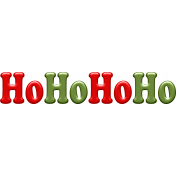 "A Little Sparkle {Elements}- ""HoHoHo"" Word Art"
